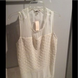 Lucky Brand cream Blouse