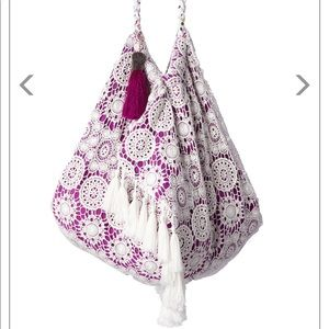 Beautiful embroidered beach bag