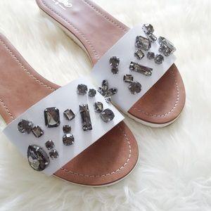 White Jeweled Sandals