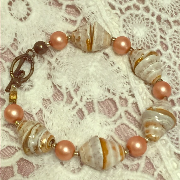 55 off JK Designs Jewelry Burnished Conch Shell and Pearl