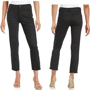 Free People SZ 25 Straight Leg Crop Black Jeans