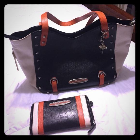 ec148eb0f06 Harley-Davidson Handbags - Harley Davidson colorblock handbag and wallet