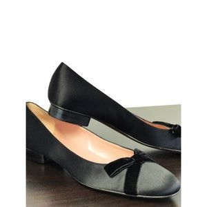 New Moschino Cheap&Chic Black Satin Flats