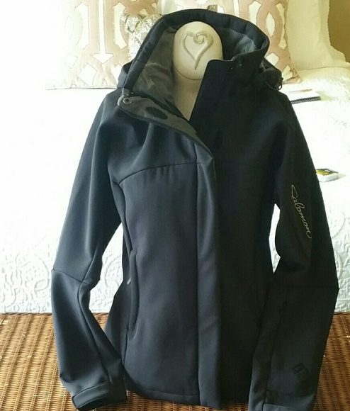 ed5358957418 EUC Salomon Black Clima Pro Hooded Jacket. M 59af4053620ff7e91a018e56