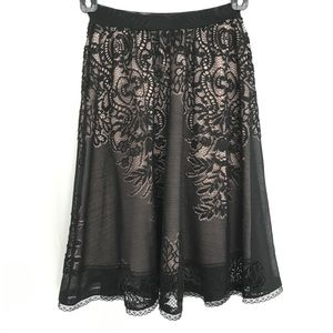 Dresses & Skirts - Black lace skirt.  Like new.