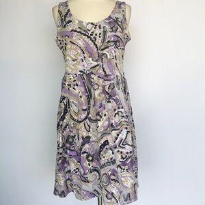 Michael Kors purple floral paisley dress