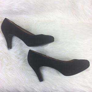 52f6c785663b Clarks Shoes - Clarks Indigo Suede Pumps 11M Platform Heels