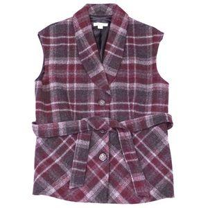 Pendleton Check Plaid Wool Vest