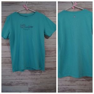 Life Is Good Teal T-shirt Size M