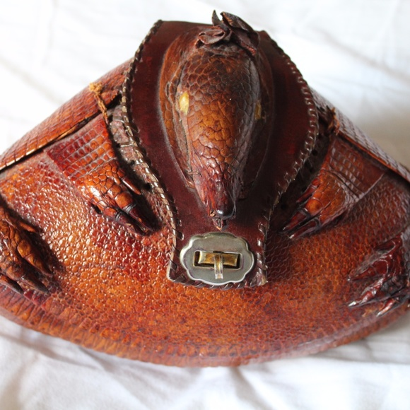 1db2f2c3a254 Vintage Armadillo Purse with Amber Eyes. M 59af433d2599fe5883018895