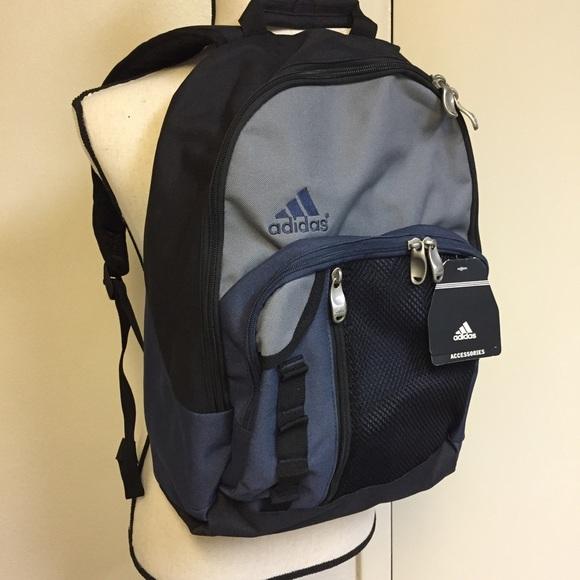 adidas Bags   New Black Blue Gray Backpack   Poshmark 9af2f04d49