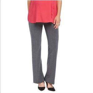 Maternity Grey Slacks Flare Dress Pants, Medium
