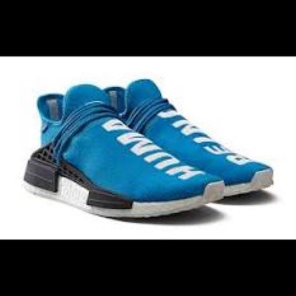 1c467eadd5286 Size 7 Blue human race 100% real amazing. NWT. adidas