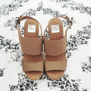 Dolce Vita Taupe Brown Wedges