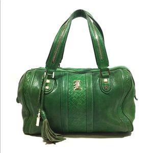 L.a.m.b. Satchel Handbag Purse Green