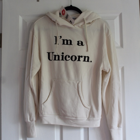 Wildfox I'm A Unicorn Hoodie (with horn!) NWT!