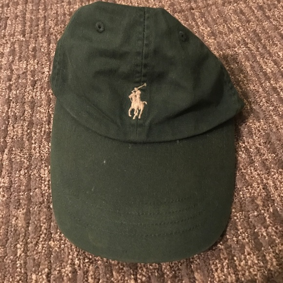 e8cce810f1b85 Dark Green Polo Hat with Leather Strap. M 59af51c1ea3f365dd801d9c6