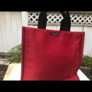Kate Spade  red satin tote. As is.