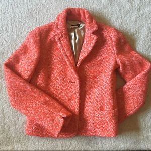 Wool short coat - coral red