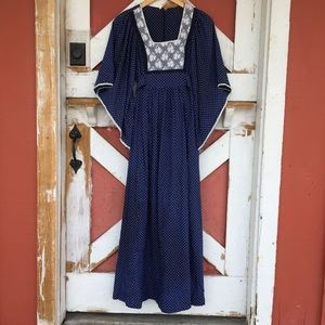 Dresses & Skirts - Vintage 60's Butterfly Hippie Dress W/ Polka Dots