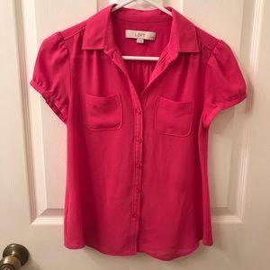 LOFT Tops - Hot Pink LOFT Blouse