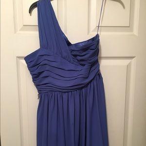 One shoulder express chiffon dress