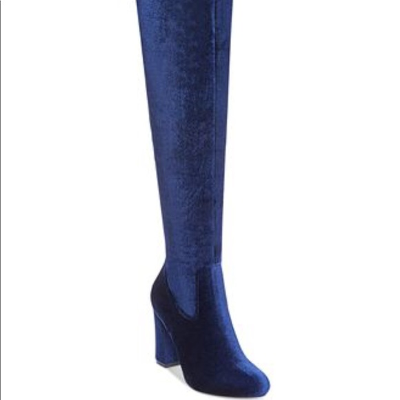 da4f52d9a51 Madden Girl Womens Felize Over the Knee Boots