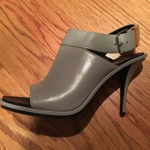 Balenciaga grey open toe heels