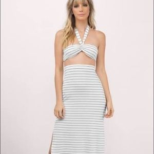 Tobi striped matching maxi dress set