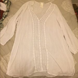 EUC La Blanca White Womens Cover Up XL