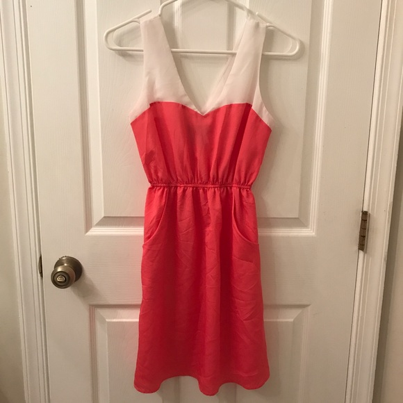 Dresses & Skirts - Coral and White Sundress