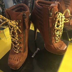 Boutique 9 Arael Leather Lace-Up Ankle Boots