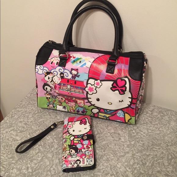 b1d0bc915d2f Tokidoki Hello Kitty Kimono Overnight Bag   Wallet.  M 59af62656d64bcb933024ef5