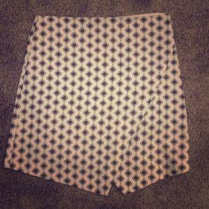 LOFT patterned skirt
