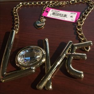 Jewelry - Authentic LOVE Betsey Johnson Necklace New $75