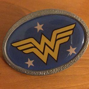 Wonder Woman belt buckle.