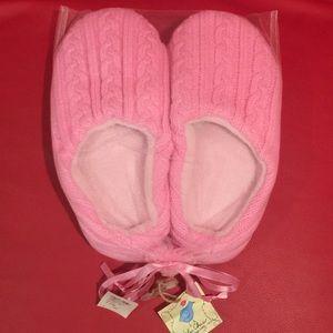 Pink slipper.
