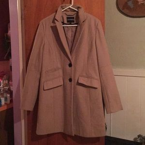 Express tan coat sz M
