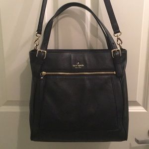 Kate Spade Large Black Leather Purse NEW