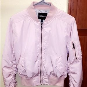 Express pink bomber jacket