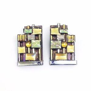 🎉LAST CHANCE 🎉 Earrings Artisan Block Statement