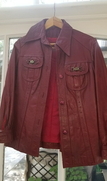 Etienne Aigner Jackets & Blazers - Etienne Aigner retro leather jacket size 8