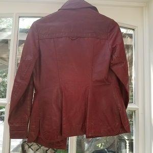 Etienne Aigner Jackets & Coats - Etienne Aigner retro leather jacket size 8
