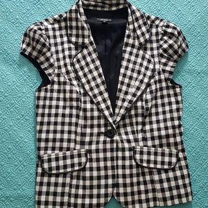 ALYX cap sleeved checkered blazer