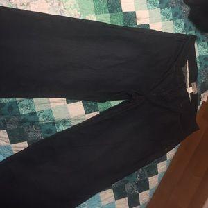 BCBG max azria wide leg dark jeans