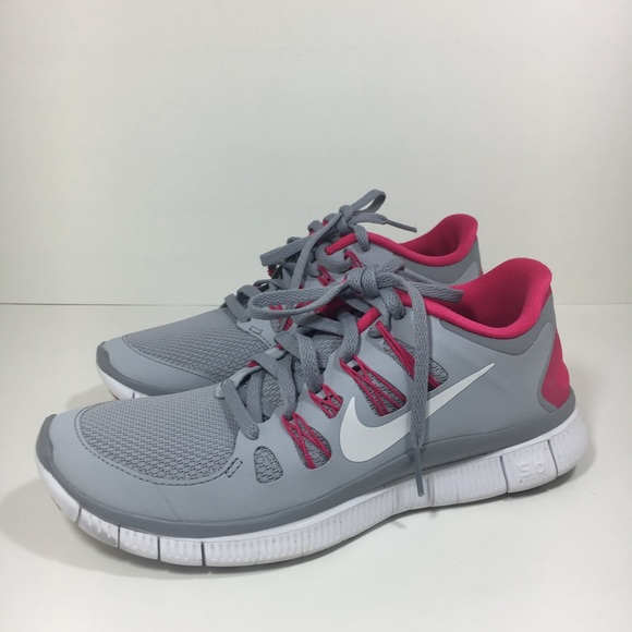 newest collection 7e464 bb9c1 Nike free run 4.0 pink gray running shoes EUC 8