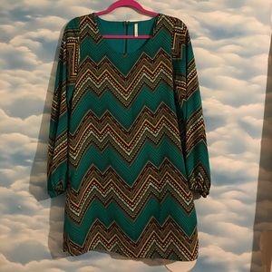 LikeNew! Boutique chevron tribal dress by Sage