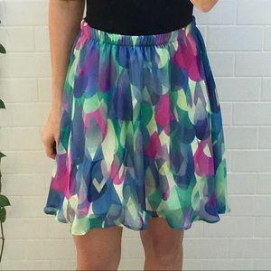 Everly Geometric Print Skirt