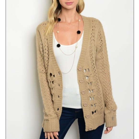 49% off trendy boutique Sweaters - Taupe Cardigan sweater, New ...