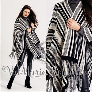 Premium Knit Shawl Cardigan Poncho Sweater wrap